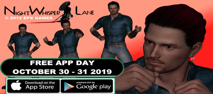Night Whisper Lane FREE for on APPLE and Google Play APP STORES on OCTOBER 30-31 2019